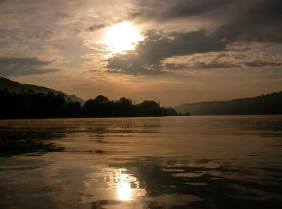 Mute Sunrise Commute - Ohio River Sunrise