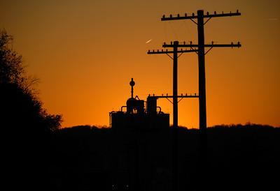 River Road Rail Line Poles