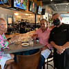 Jim Rogers, Andiamo's owner and executive chef, chats with guests Cynthia and Ralph DiPesa of Chelmsford.