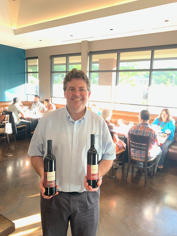 . Noel Powell, owner and CEO of Aaronap Cellars in Westford