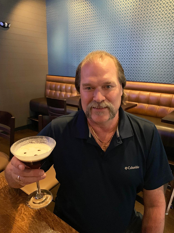 . Mark Bauchman of Methuen enjoys the signature Espresso Martini