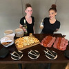 Andiamo's Becky Thibedore of Chelmsford and Fatima Kolpachnikoft of Billerica serve up Salumi E Formaggi paired with a 2017 Stonewall White