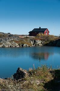 Hytter på Bjørnfjellplatået.