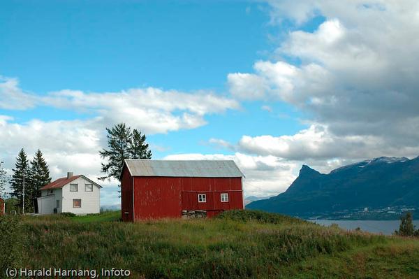 Veggen, fraflyttet område rett ovenfor Narvikhalvøya, tidligere fast bosetting med småbruk. Tidligere en del av Narvik kommune, men siden 1999 utskilt, og nå en del av Evenes kommune. Fraflyttet hus og fjøs.