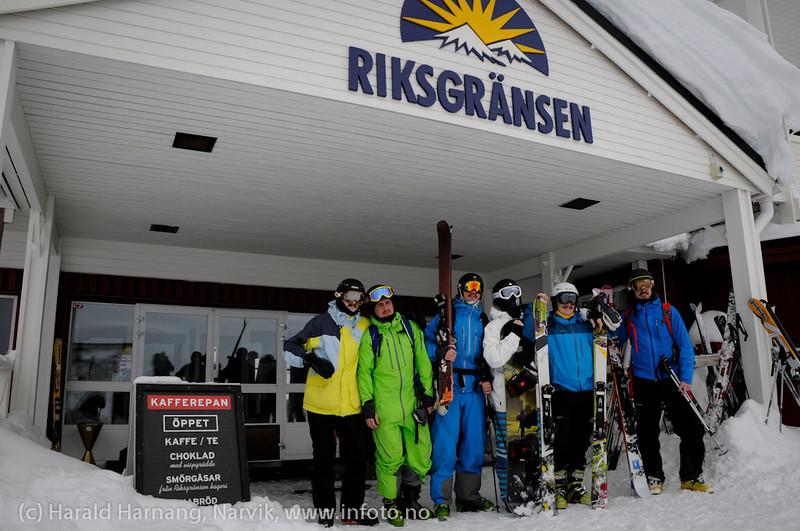 Mai 2011: Riksgränsen, Sverige. Nordmenn på skiferie i Sverige.