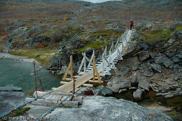 Skjomfjellet, Losi. Bru over Nordelva