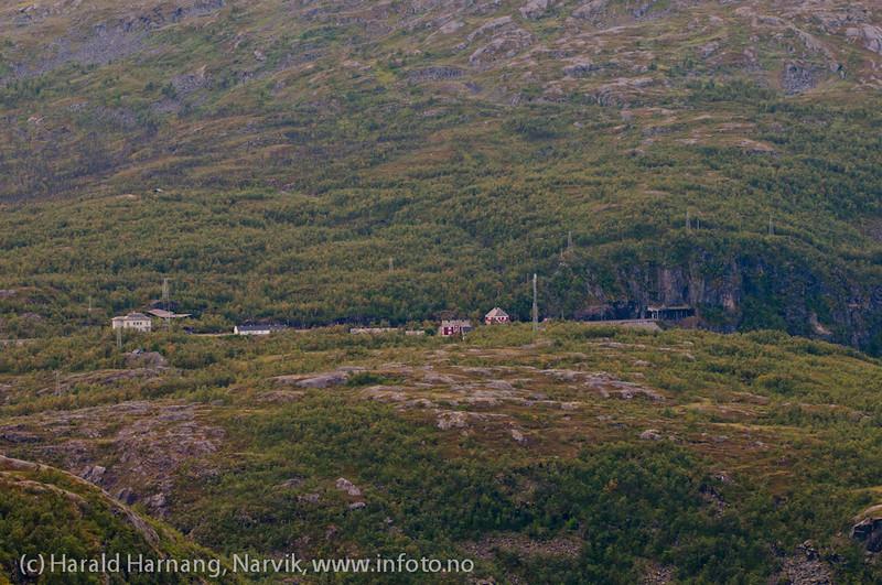 Katterat stasjon sett fra Utsikten.