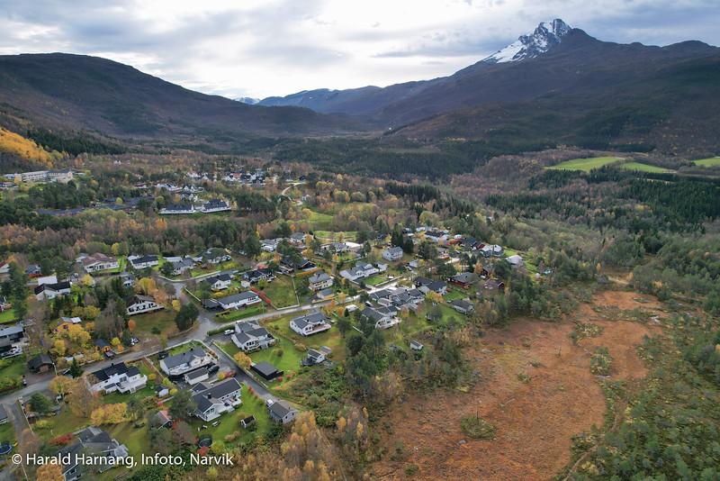 Håkvik, boligområde, dronefoto
