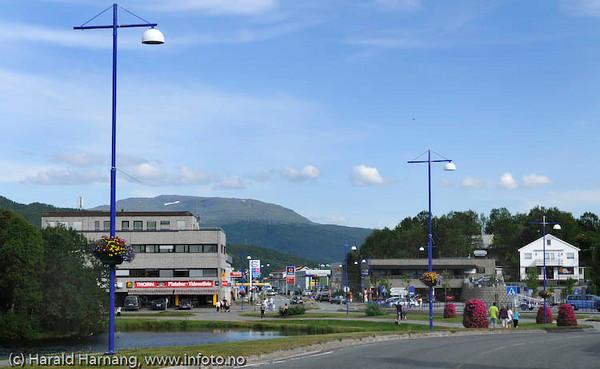 Finnsnes sentrum i Troms fylke
