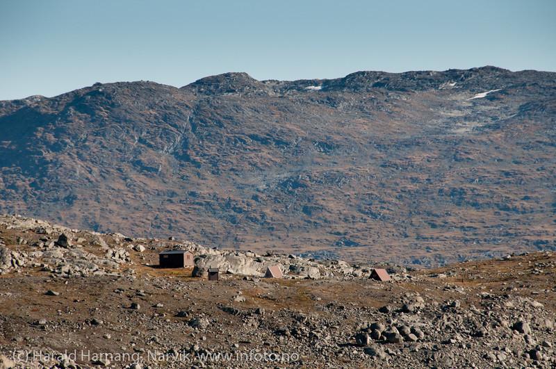 Brehytta til Narvik og Omegn Turistforening, nær Storsteinsfjellbreen på Skjomfjellet.