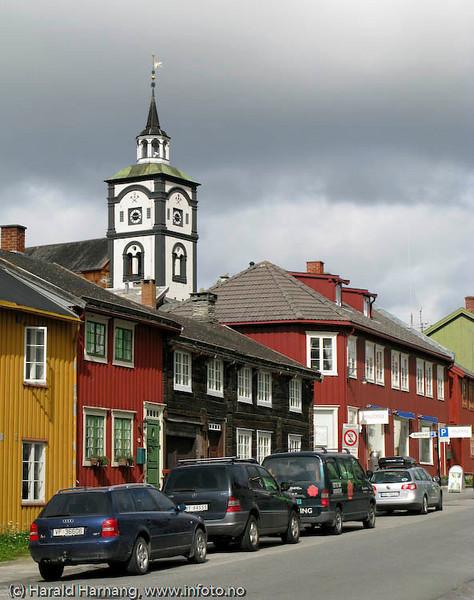 Røros, fra Bergmannsgata.