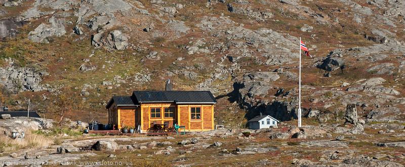 Hytte på Bjørnfjellplatået.