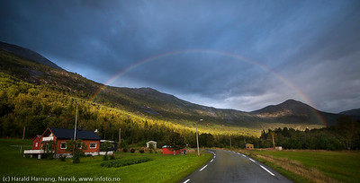 Regnbue i Skjomdalen