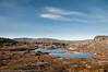 """Det er ikke mange hytter som ligger så """"ensomt"""" til som denne. Bjørnfjell, hytte langs veien fra Grusgropa og mot Brudeslørvann. Foto: 5. oktober 2014. Del av bildeserie med hytter  brukt i Fremover  lørdag 20. desember 2014."""