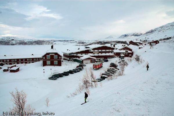 Det svenske turistanlegget Lapplandia på Riksgrensen.
