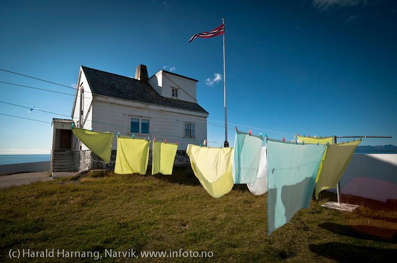 Vokterbolig på Tranøy fyr, Tranøy i Hamarøy kommune, Nordland.