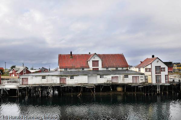 Lofoten sommer 2008. Lars Larsens fiskebruk i Henningsvær står for nedfall.