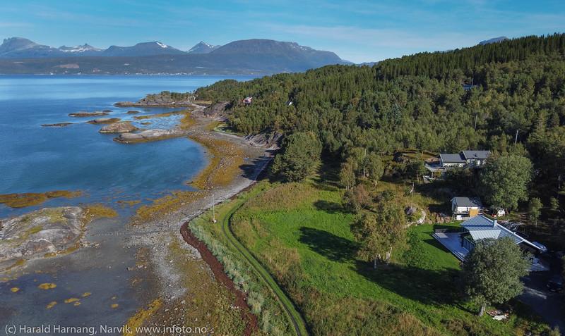 Øyjord, hyttebebyggelse, 3. sept 2020