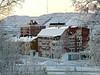 Kiruna, kald dag med sørlyset.