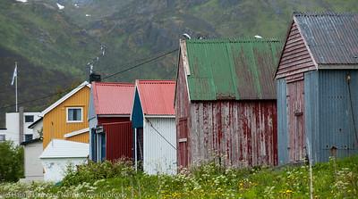 Naust i Mefjordvær på Senja.