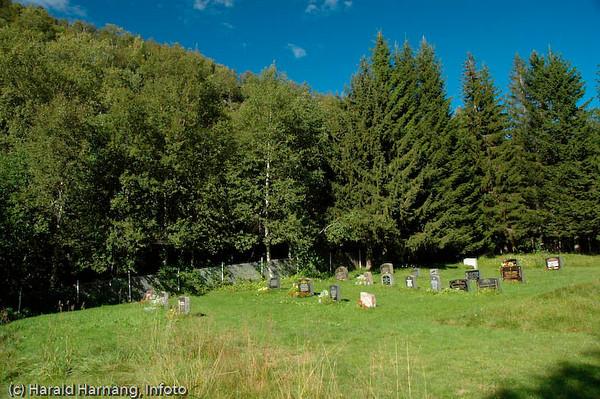 Veggen, fraflyttet område rett ovenfor Narvikhalvøya, tidligere fast bosetting med småbruk. Tidligere en del av Narvik kommune, men siden 1999 utskilt, og nå en del av Evenes kommune. Kirkegården  i Veggen.
