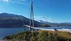 Hålogalandsbrua, med Narvik i bakgrunnen.  3. sept 2020