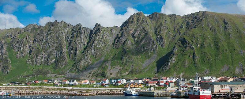 Andøya, Bleik. Panorama av to bilder.