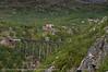 Norddalsbrua og ny trase sett fra Utsikten. Søsterbekk stn til høyre.