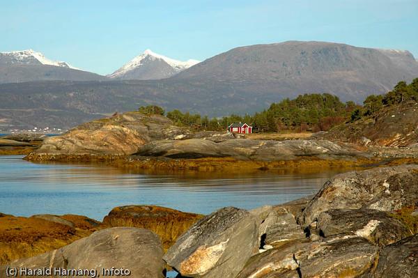 Øyord, nord for Narvik. Primært hytteområde.