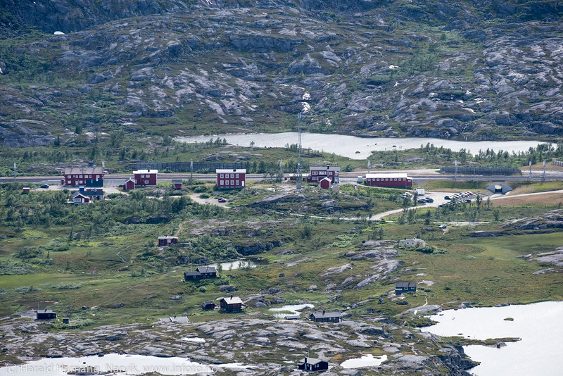 Usikt fra Bjørnfjell, 760 moh.