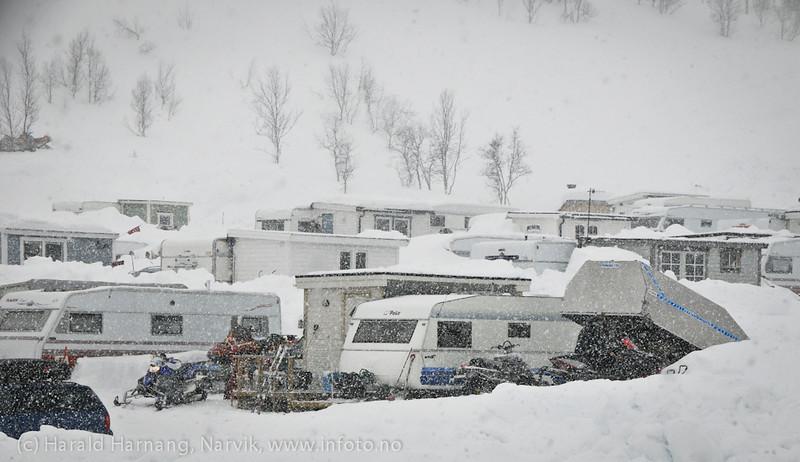 Katterjåkk, mange nordmenn har campingvogner her og har kjøpt leiligheter.