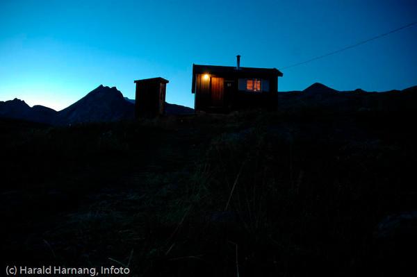 Skjomfjellet, Losi. Sikringshytte til Navik og Omegn Turistforening, NOT, på Losi.