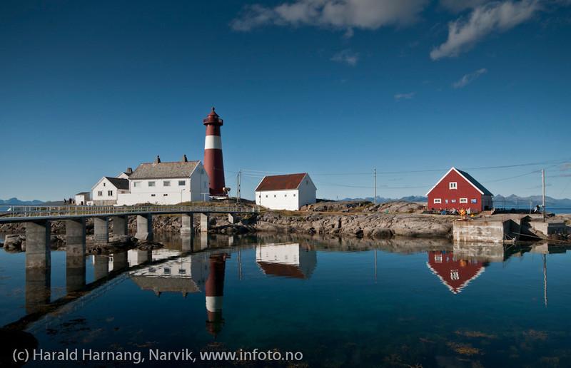 Tranøy fyr, Tranøy i Hamarøy kommune, Nordland.