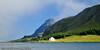 Lofoten sommer 2008. I bakgrunnen til venstre Kåkern bru ved Sund.