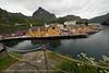 Nusfjord, fortsatt flott, men hel-kommersialisert. Lofoten, juni 2013.