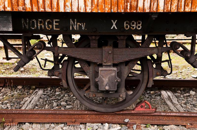 Parkert materiell på Katterat stasjon på Ofotbanen