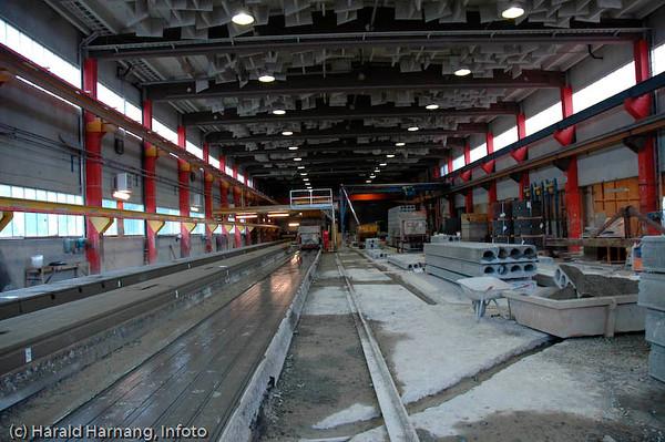 Spennbetongfabrikken i Kjøpsvik i Tysfjord kommune