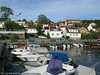Drøbak, deler av den eldre bebyggelsen ved havna.