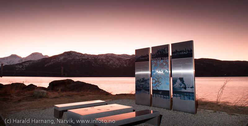 Monument ved Skjombrua. 21. desember 2012