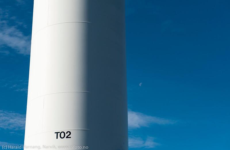 Nordkraft Vind: Møllepark på Skitdalshøgda. 15. sept 2014.