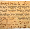 The oath of loyalty to the United States, sworn by Benedict Arnold, and witnessed by Brigadier Gen. Henry Knox at the Artillery Park at Valley Forge.