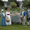 """This monument marks the site of Knox's mansion """"Montpelier."""" The monument is on the grounds of the Thomaston Historical Society Museum at 80 Knox St, Thomaston, ME."""
