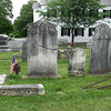 Paterson's gravestone has a repaired crack