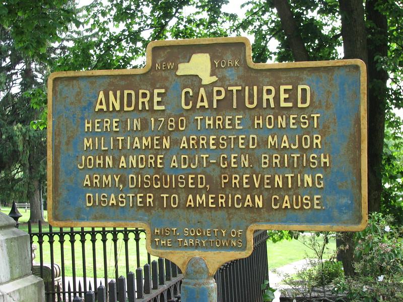 Historical marker at the roadside