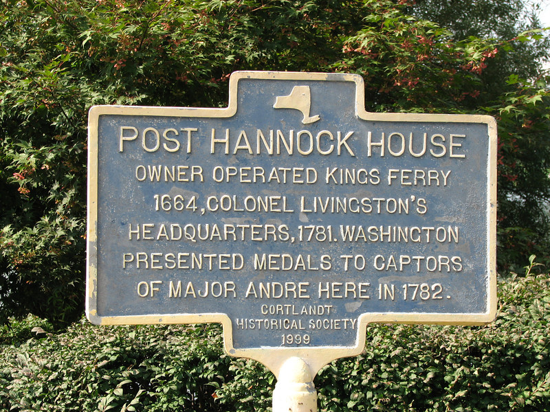 Historical marker. Note the reference to the presentation of medals to the captors of Andre by General Washington.