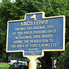 Marker for King's Ferry across the street from the house. During the Revolution the landing place on the east shore was moved closer to Fort Lafayette on Verplanck Point, north of here.