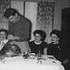 1953 Thanksgiving Dinner  Carol Schlueter, Richard Andres, Eva Catherine Andres (Schlueter) and Margaret Andres (Jay)