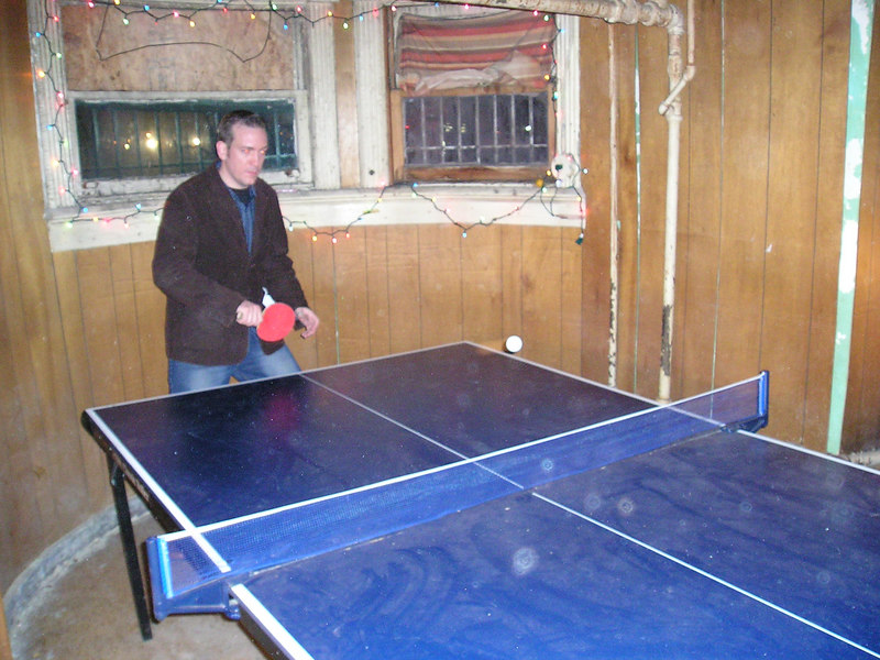 Marc playing ping-pong