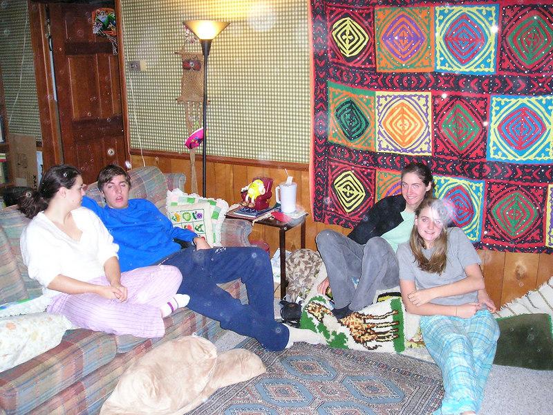 Alex, Nathan, Rachel, and Sarah Christmas morning