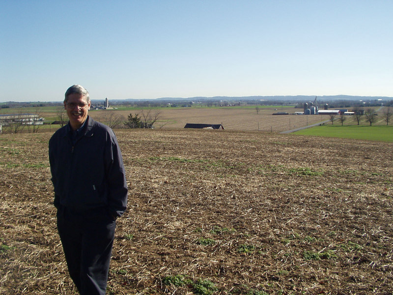 My Dad (Mike) in a field by my Aunt and Uncle's house in PA